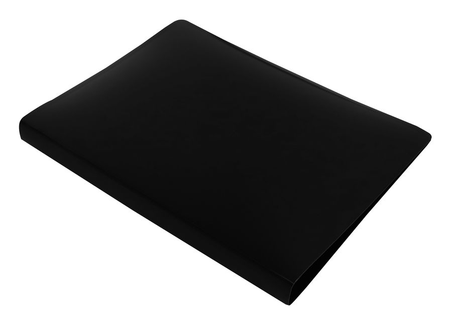 Папка с метал.зажим Бюрократ DeLuxe DL07CBLCK A4 пластик 0.7мм черный