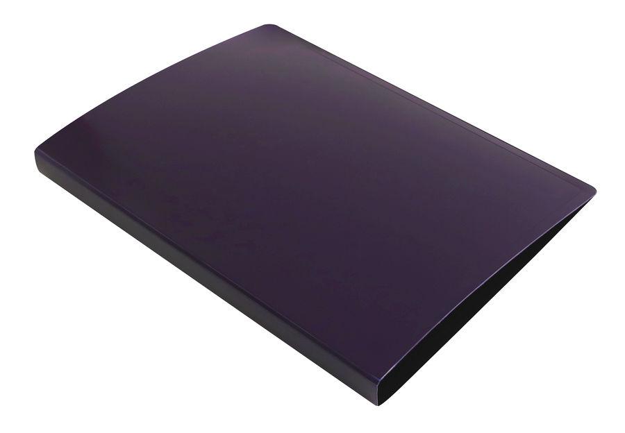 Папка с метал.зажим Бюрократ DeLuxe DL07CBBERRY A4 пластик 0.7мм черничный