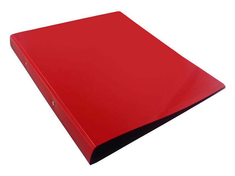 Папка на 2-х кольцах Бюрократ DeLuxe DL0740/2RED A4 пластик 0.7мм кор.32мм красный