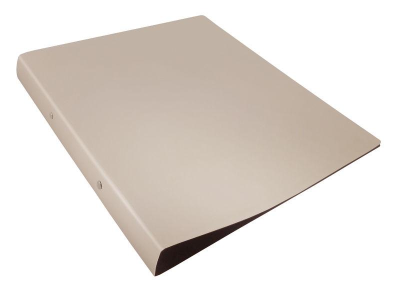 Папка на 2-х кольцах Бюрократ DeLuxe DL0740/2MILK A4 пластик 0.7мм кор.32мм молочный