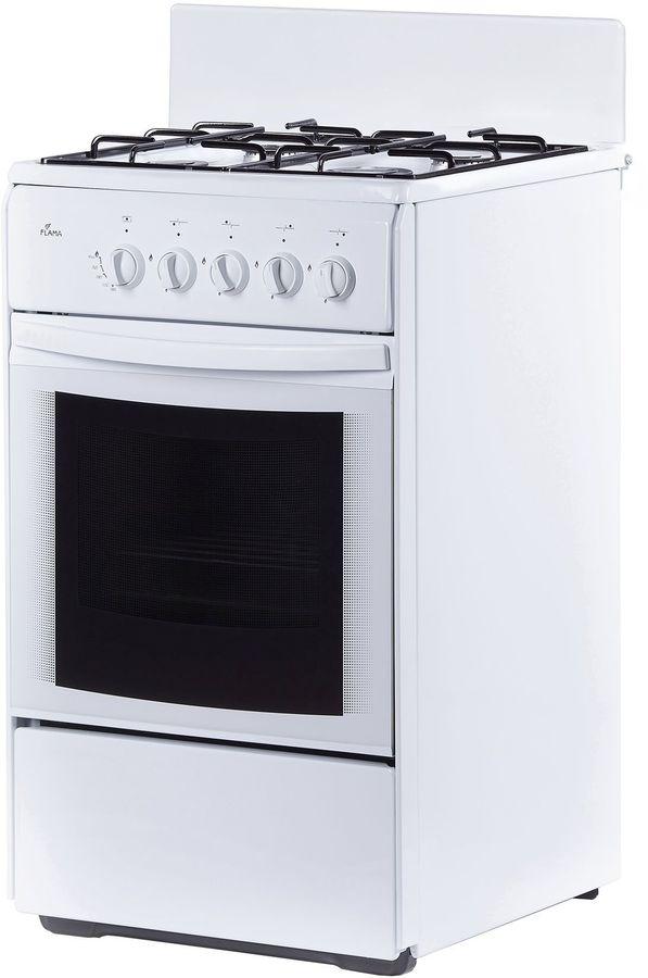 Газовая плита FLAMA RG 24035 W,  газовая духовка,  белый