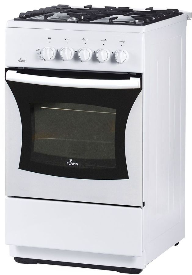 Газовая плита FLAMA FG 24028 W,  газовая духовка,  белый