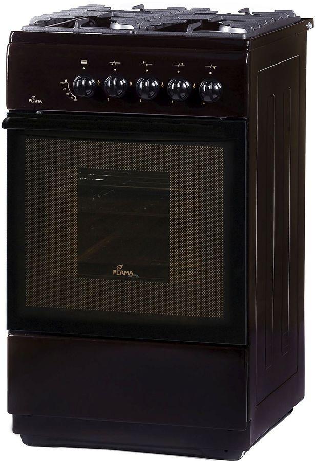 Газовая плита FLAMA FG 24028 B,  газовая духовка,  коричневый