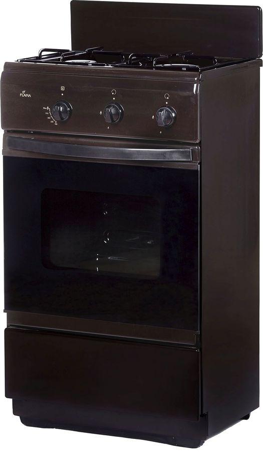 Газовая плита FLAMA CG 32010 B,  газовая духовка,  коричневый
