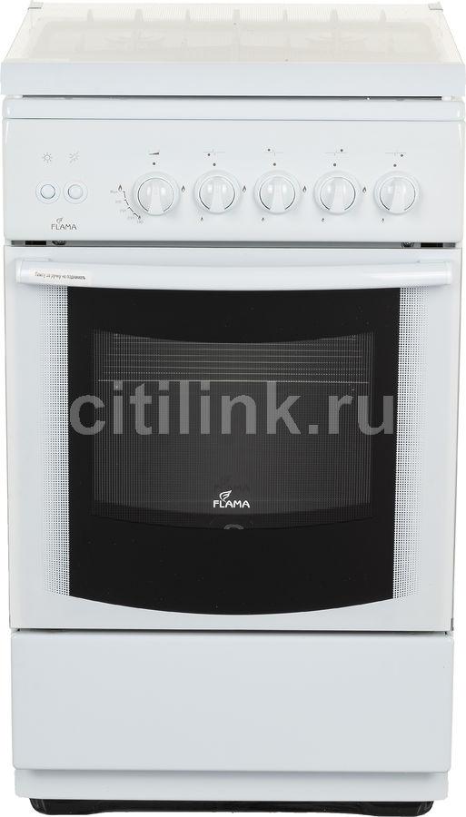 Газовая плита FLAMA FG 24228 W,  газовая духовка,  белый
