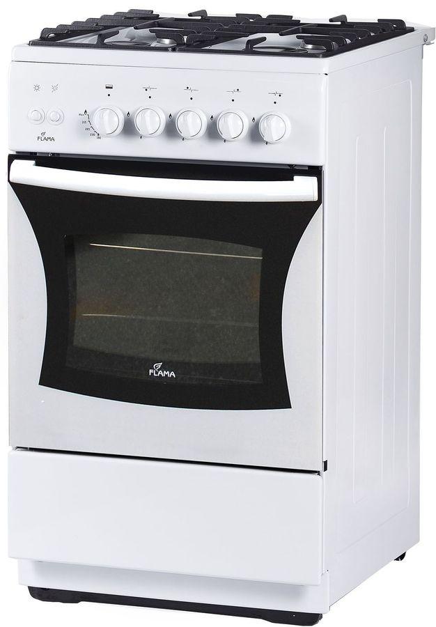 Газовая плита FLAMA FG 24230 W,  газовая духовка,  белый