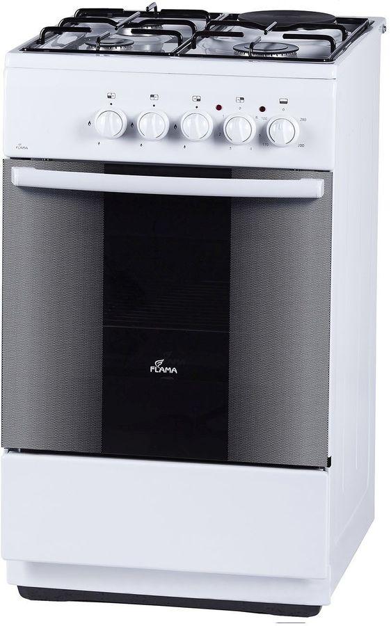Газовая плита FLAMA RK 23-105 W,  электрическая духовка,  белый
