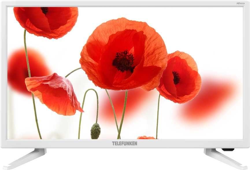 "Телевизор LED Telefunken 23.6"" TF-LED24S52T2 белый/HD READY/50Hz/DVB-T/DVB-T2/DVB- (отремонтированный)"