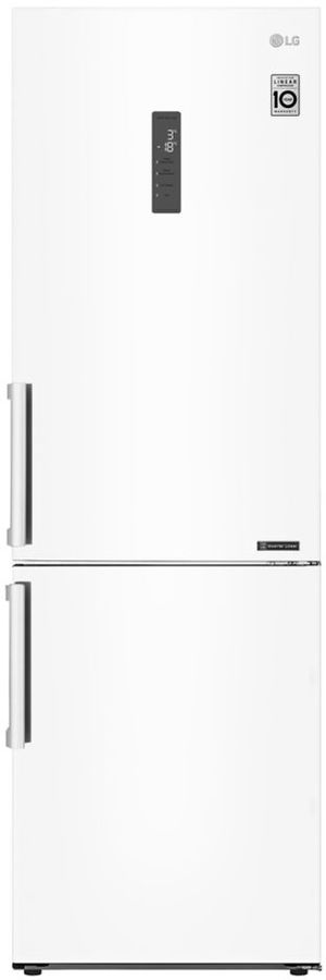 Холодильник LG GA-B459BQGL,  двухкамерный, белый