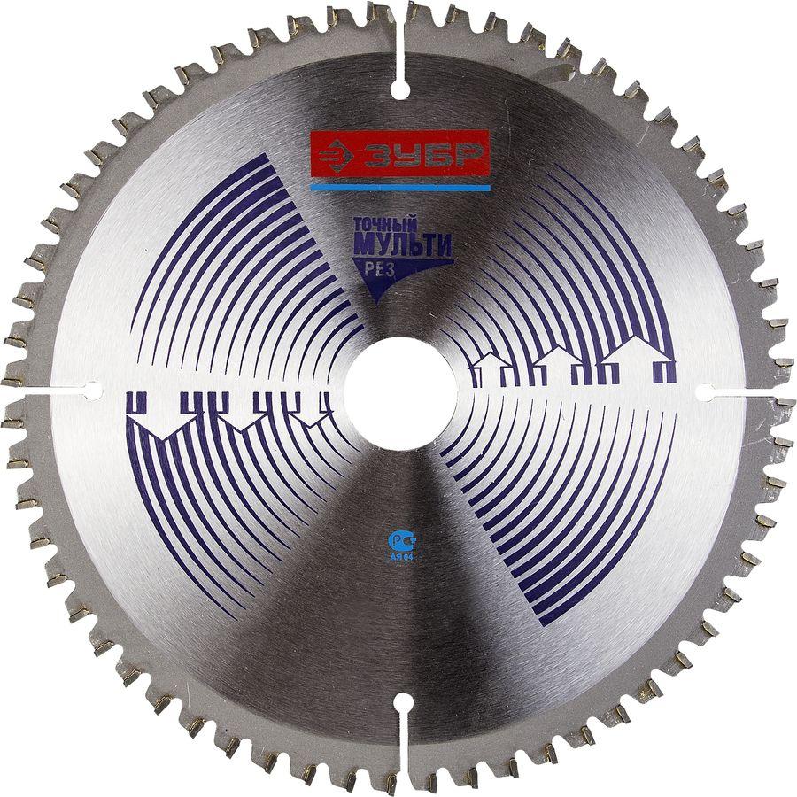 Пильный диск ЗУБР Точный-МУЛЬТИ рез усиленный,  по алюминию,  230мм [36907-230-30-60]
