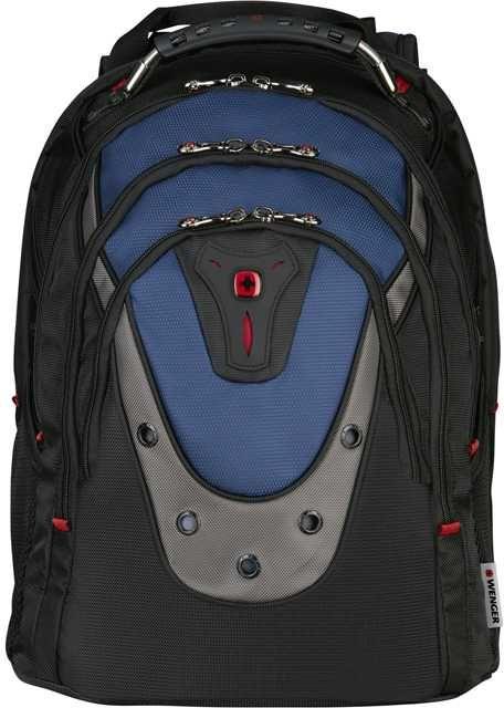 Рюкзак Wenger черный/синий 600638 37x47x26см 23л. 1.52кг.