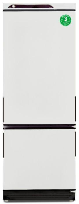 Холодильник САРАТОВ 209-003,  двухкамерный, белый/черный