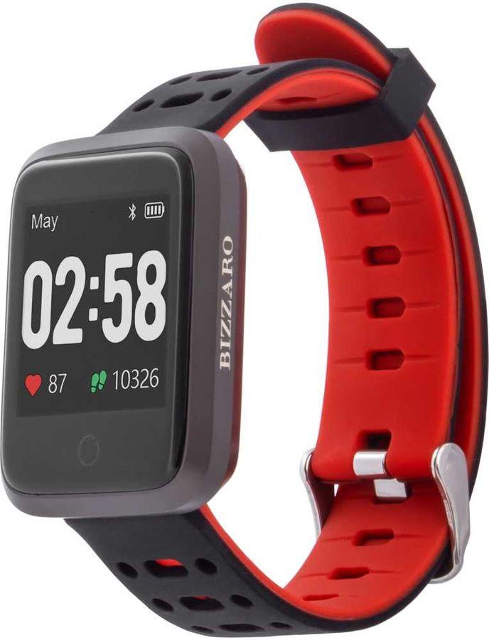 """Смарт-часы REKAM Bizzaro F610,  42.6мм,  1.3"""",  черный/серебристый / черный [2202000014]"""