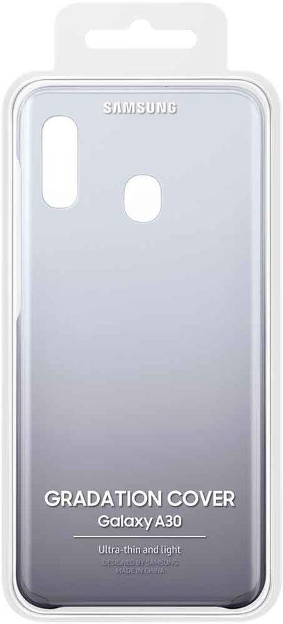 Чехол (клип-кейс) SAMSUNG Gradation Cover, для Samsung Galaxy A30, черный [ef-aa305cbegru]