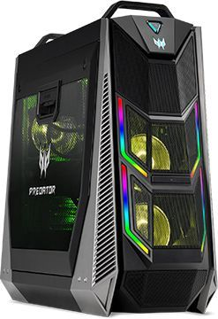 Компьютер  ACER Predator PO9-900,  Intel  Core i9  9980XE,  DDR4 128Гб, 2.9Тб,  512Гб(SSD),  2 х NVIDIA GeForce RTX 2080Ti - 11264 Мб,  DVD-RW,  Windows 10 Home,  черный [dg.e0per.014]