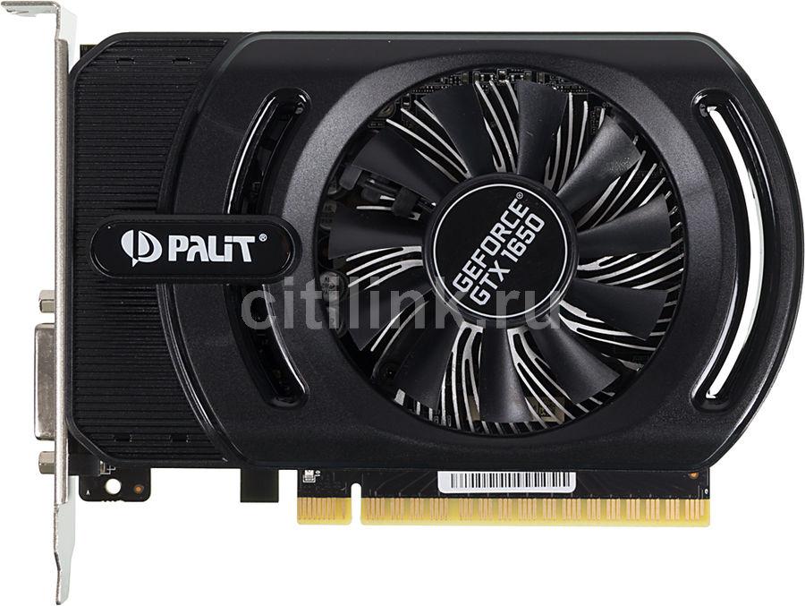 Видеокарта PALIT nVidia  GeForce GTX 1650 ,  PA-GTX1650 STORMX OC 4G,  4Гб, GDDR5, OC,  Ret [ne51650s06g1-1170f]