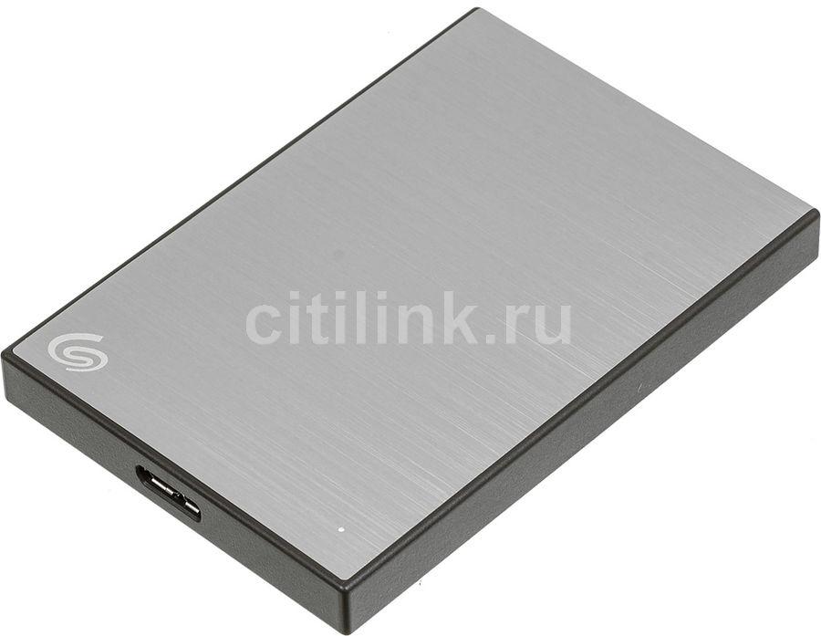 Внешний жесткий диск SEAGATE Backup Plus Slim STHN1000401, 1Тб, серебристый