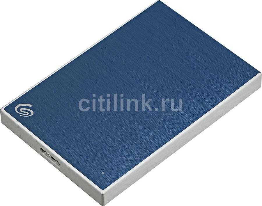 Внешний жесткий диск SEAGATE Backup Plus Slim STHN1000402, 1Тб, синий