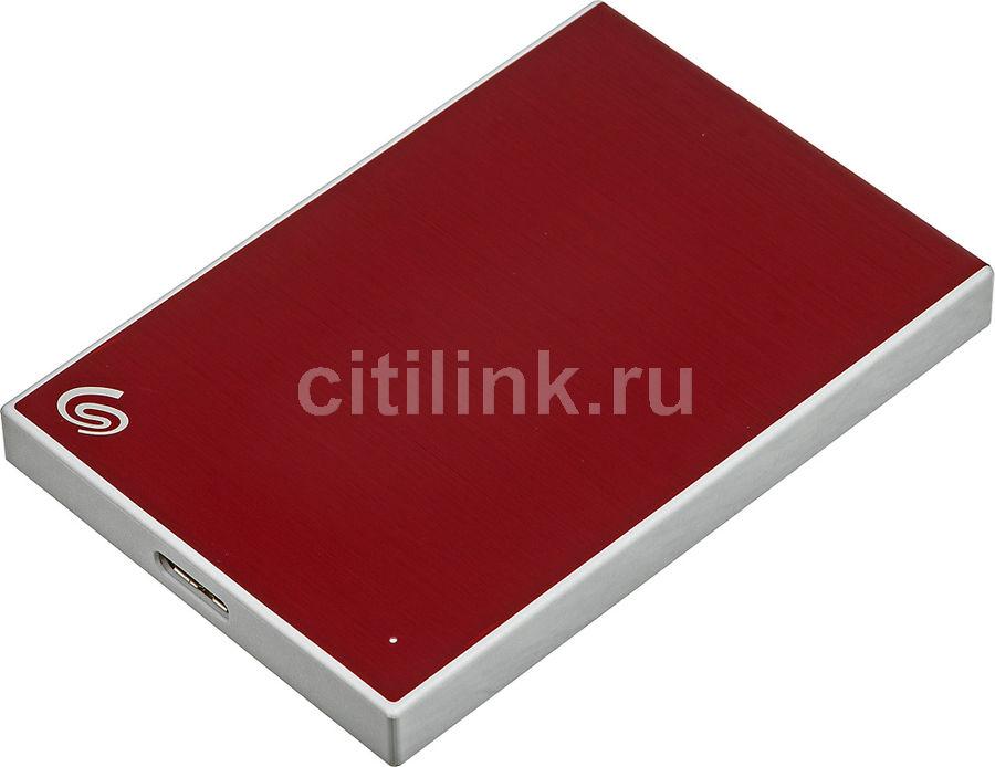 Внешний жесткий диск SEAGATE Backup Plus Slim STHN1000403, 1Тб, красный