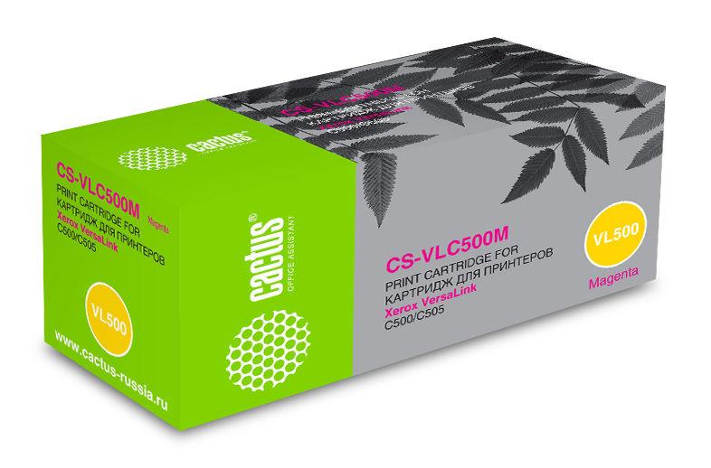 Картридж CACTUS CS-VLC500M, 106R03878, пурпурный