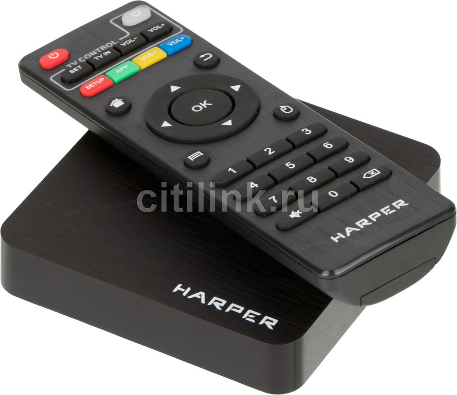 Медиаплеер HARPER ABX-110,  черный