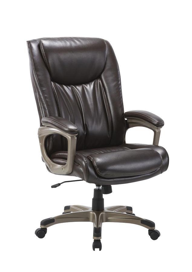 Кресло руководителя БЮРОКРАТ T-9914, на колесиках, рециклированная кожа/кожзам [t-9914/brown]