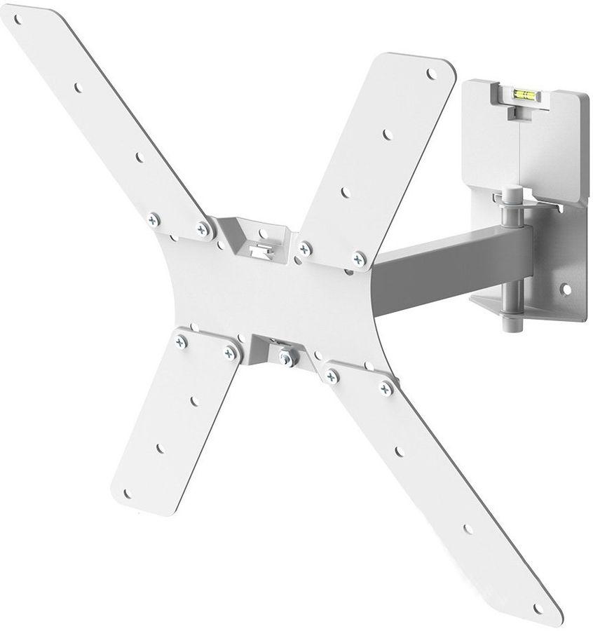 """Кронштейн для телевизора Holder LCD-5520-B белый 32""""-55"""" макс.45кг настенный поворотно-выдвижной и н"""