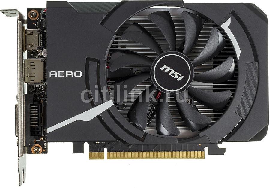 Видеокарта MSI nVidia  GeForce GTX 1650 ,  GTX 1650 AERO ITX 4G OC,  4Гб, GDDR5, OC,  Ret