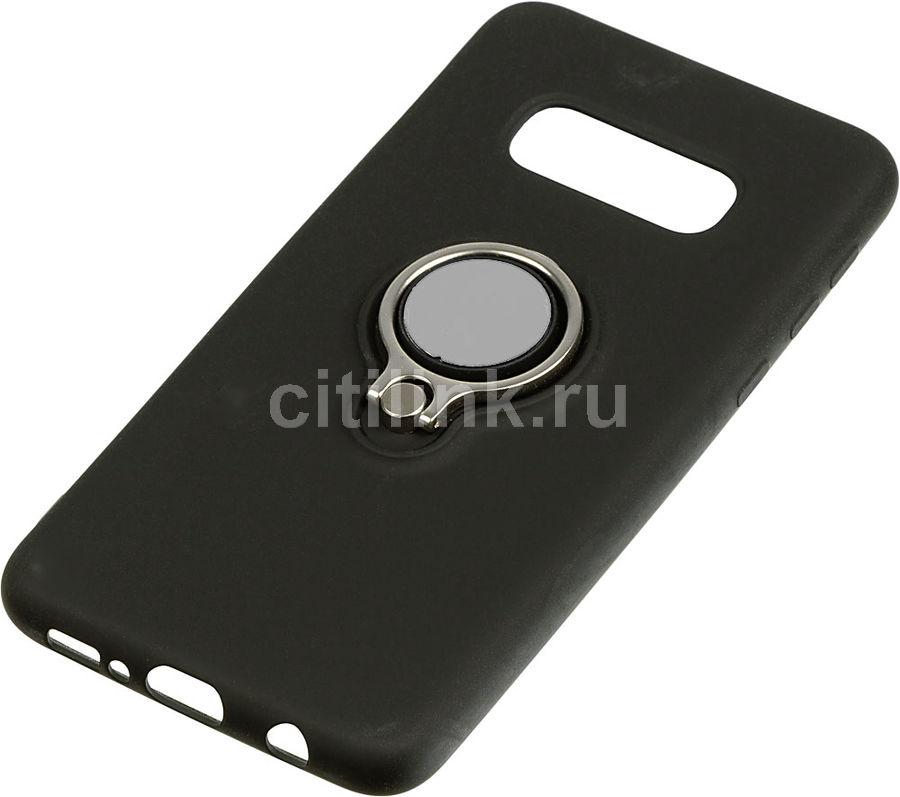Чехол (флип-кейс) DF sRing-02, для Samsung Galaxy S10e, черный [df sring-02 (black)]