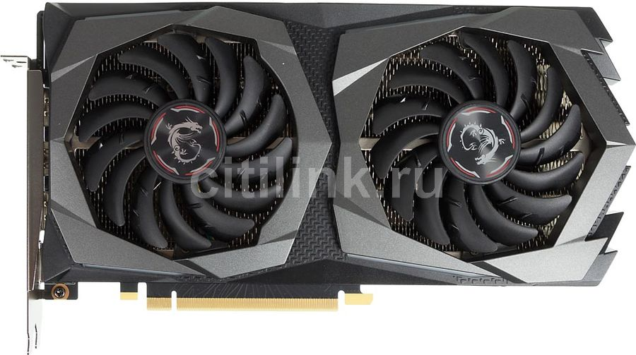Видеокарта MSI nVidia  GeForce RTX 2060 ,  RTX 2060 GAMING 6G,  6Гб, GDDR6, Ret