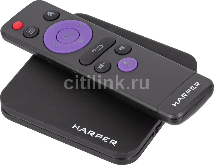 Медиаплеер HARPER ABX-210,  черный