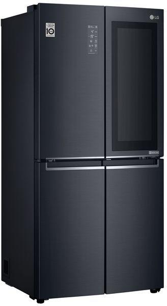 Холодильник LG GC-Q22FTBKL,  трехкамерный, черный