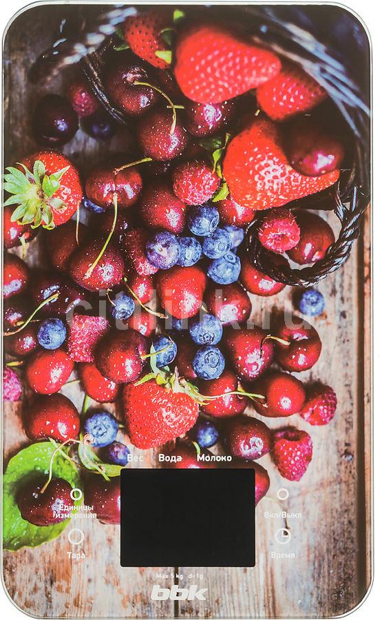 Весы кухонные BBK KS107G,  рисунок/ягоды