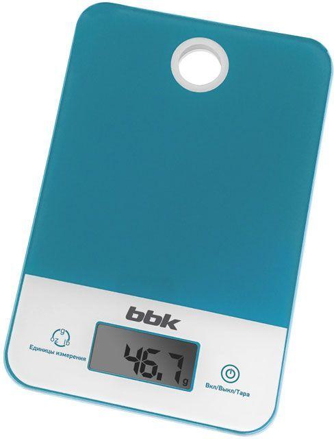 Весы кухонные BBK KS109G,  бирюзовый/белый