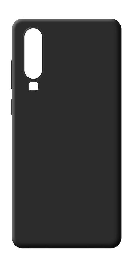 Чехол (клип-кейс) BORASCO для Huawei P30, черный (матовый) [36643]