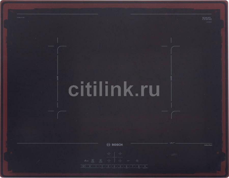 Индукционная варочная панель BOSCH PVQ611FC5E,  индукционная,  независимая,  черный