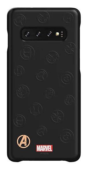 Чехол (клип-кейс) SAMSUNG Marvel Case AvLogo, для Samsung Galaxy S10, черный [gp-g973hifgkwe]