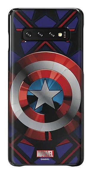 Чехол (клип-кейс) SAMSUNG Marvel Case Camerica, для Samsung Galaxy S10, синий [gp-g973hifgkwc]