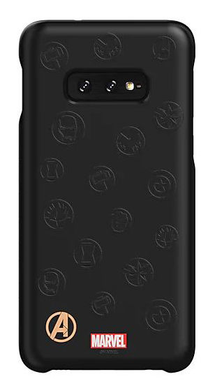 Чехол (клип-кейс) SAMSUNG Marvel Case AvLogo, для Samsung Galaxy S10e, черный [gp-g970hifghwe]