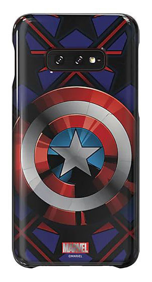 Чехол (клип-кейс) SAMSUNG Marvel Case Camerica, для Samsung Galaxy S10e, синий [gp-g970hifghwc]
