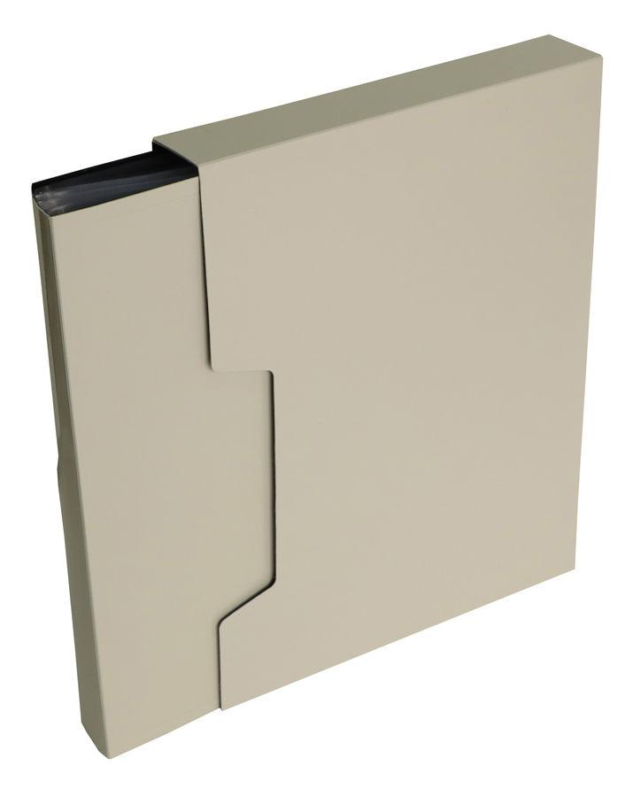 Папка с 100 прозр.вклад. Бюрократ DeLuxe DLVBOX100MILK A4 пластик 0.7мм молочный в коробе