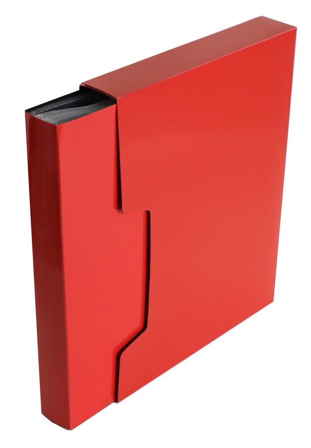 Папка с 100 прозр.вклад. Бюрократ DeLuxe DLVBOX100RED A4 пластик 0.7мм красный в коробе
