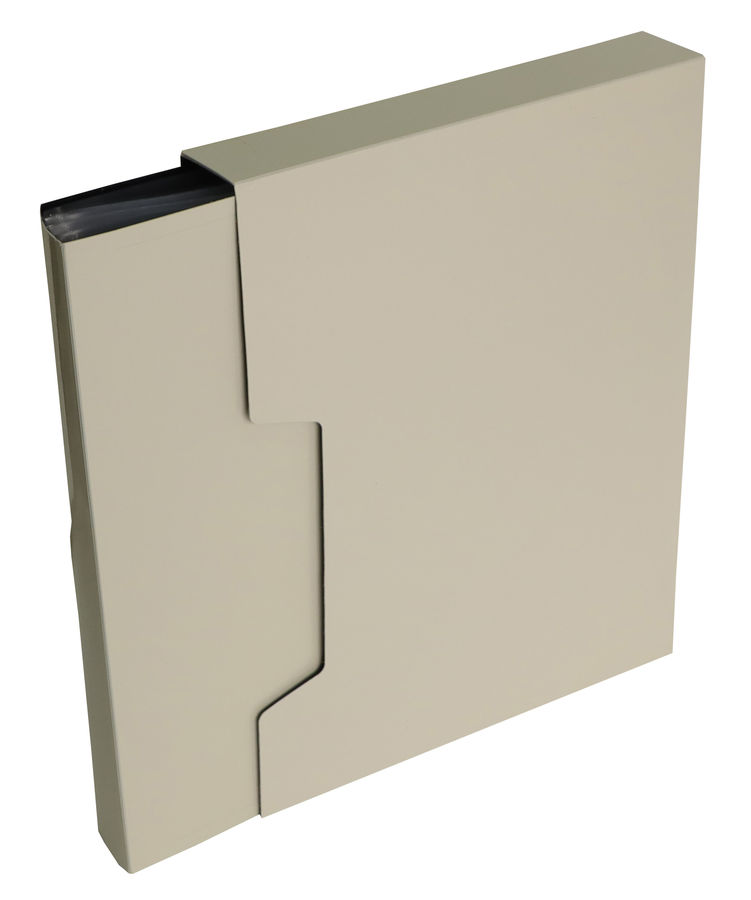 Папка с 80 прозр.вклад. Бюрократ DeLuxe DLVBOX80MILK A4 пластик 0.7мм молочный в коробе