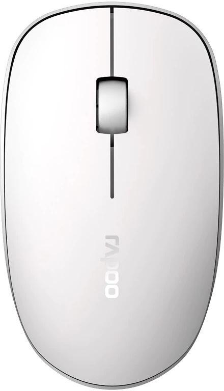 Мышь RAPOO M200, оптическая, беспроводная, USB, белый [18105]