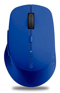 Мышь RAPOO M300, оптическая, беспроводная, USB, синий [18049]