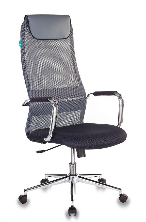 Кресло руководителя БЮРОКРАТ KB-9N/DG/TW-12, на колесиках, сетка, серый