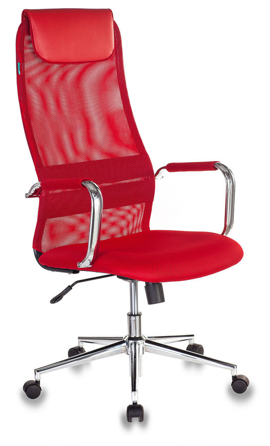 Кресло руководителя БЮРОКРАТ KB-9N/R/TW-97N, на колесиках, сетка, красный