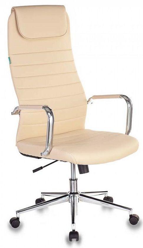 Кресло руководителя БЮРОКРАТ KB-9N/ECO/OR-12, на колесиках, искусственная кожа, бежевый