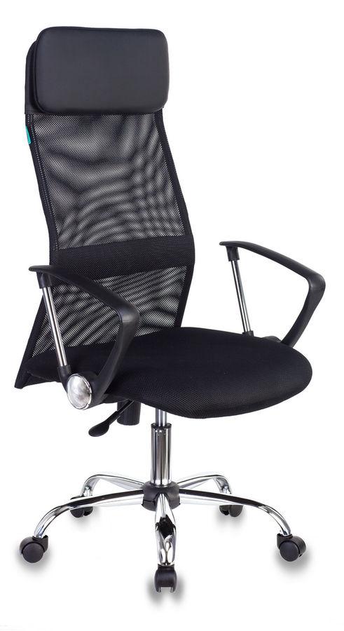Кресло руководителя БЮРОКРАТ KB-6N, на колесиках, сетка, черный [kb-6n/sl/b/tw-11]