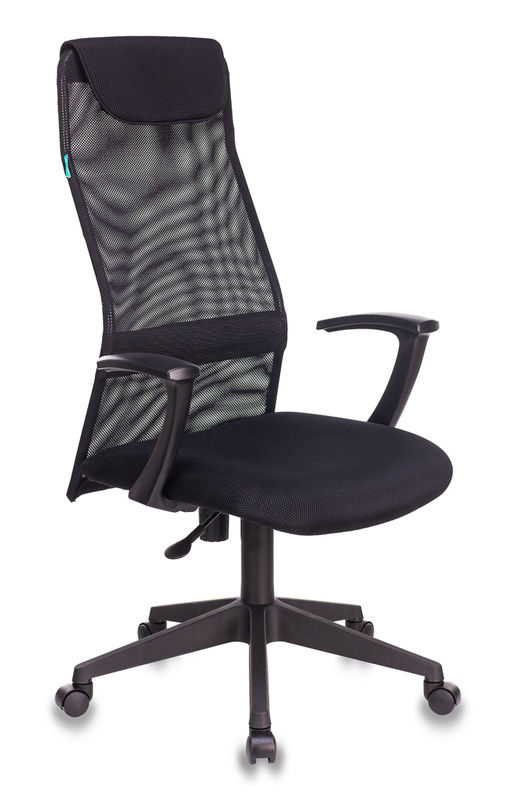 Кресло руководителя БЮРОКРАТ KB-8N, на колесиках, сетка, черный [kb-8n/black]